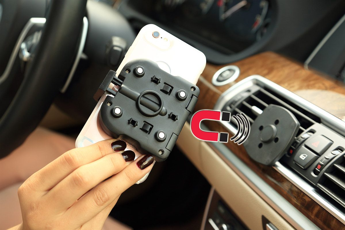 INBAY universal air vent mount for wireless charging in your car. Details.