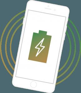 Smartphone kabellos laden