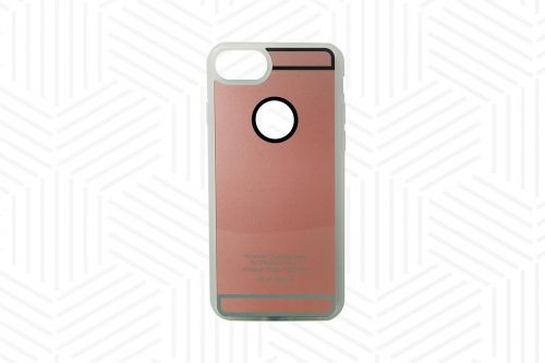 Qi-compatible charging case for iPhone 6, 6S, 7, rose gold