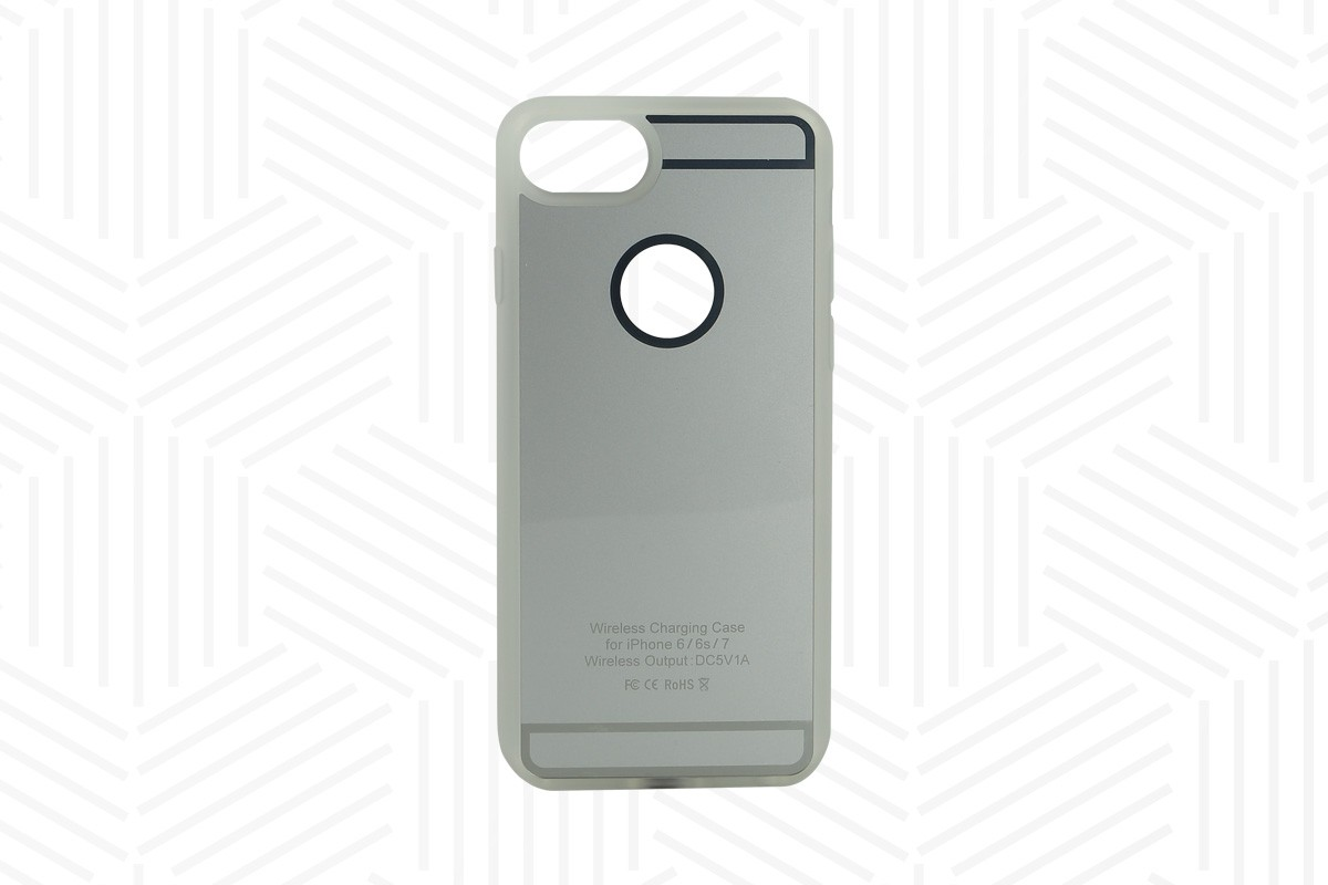 Ladehülle Qi-Standard iPhone 6, 6S, 7, 7S silber