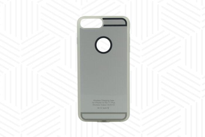 Ladehülle Qi-Standard iPhone 6 Plus, 7 Plus silber