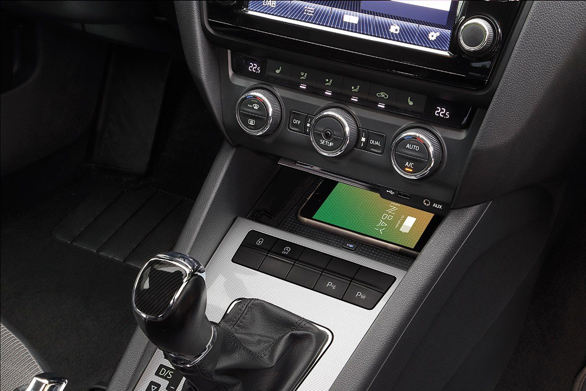 Wireless Charging im Skoda Octavia 5
